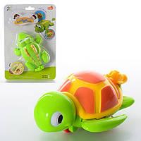 Заводная игрушка 13см, для купания, 2 вида (крокодил, черепаха), на листе, 17-25-6см ()