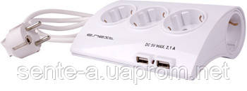 Удлинитель сетевой e.es.5.1.5.2.usb 5 гнезд, 1.5м, с USB-зарядкой 2.1 A