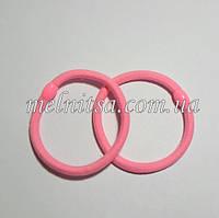 Резинки для волос с пластиковым зажимом, цвет розовый, 2 шт.