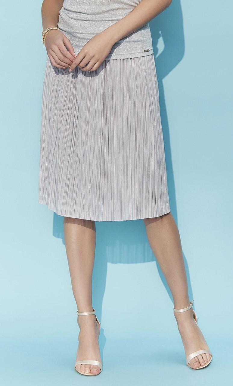 127df0060cb Летняя плиссированная юбка Lotta Zaps серого цвета