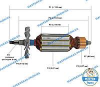 Якорь на болгарку CRAFT-TEC PXAG-227/ИЖМАШ ИШМ-1900