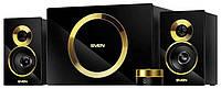 Колонки 2.1 Sven MS-1086 Black/Gold 48W, разъем для наушников и микрофона, управление на проводном пульте