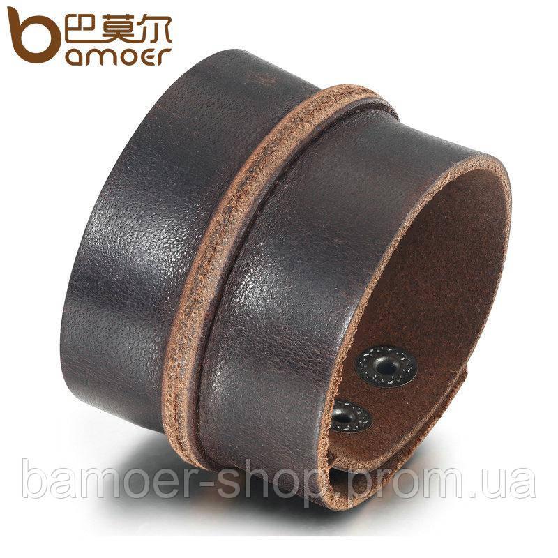 7d778136fe49 Широкий кожаный браслет коричневый, цена 250 грн., купить в Харькове ...