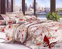 Комплект постельного белья XHY1055 двуспальный (TAG polycotton 2-sp-445)