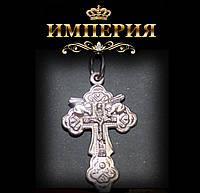 Крест православный женский или мужской с Ангелами серебряный