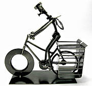 "Техно-арт подставка под ручки ""Велосипедист"" металл"