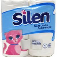 Бумага туалетная Silen 32764000 белый Silen  целлюлозный 2-х шар. 20 м 4 шт