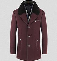 Мужское стильное пальто. Модель 61795, фото 1