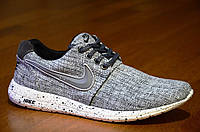 Кроссовки Nike Roshe Run найк мужские реплика серые джинс легкие весна лето (Код: Т321а)