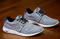 Кроссовки Nike Roshe Run найк мужские реплика серые джинс легкие весна лето (Код: М321)