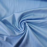 Сатин Люкс однотонный небесно-голубой, ширина 240 см