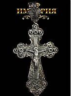 Крест православный мужской серебряный 20 г