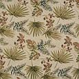 Гобелен ткань, гербарий листьев, оливково-зелёный, фото 2