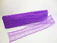"""Кружево """"Цветочек"""", 4,5 см, цвет фиолетовый"""