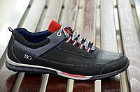Кроссовки мужские практичные удобные черные (Код: Б358а)