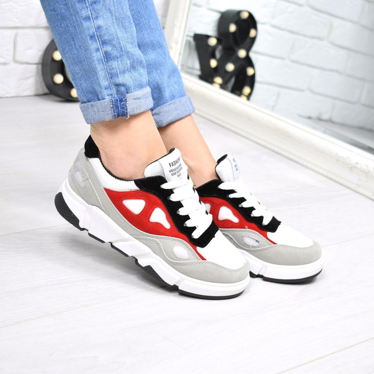 Купить Кроссовок женский Skaters серый + красный женскую обувь по ... eb7087df0a4