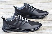 Кроссовки adidas реплика  сетка черные мужские удобные весна лето (Код: Б516)