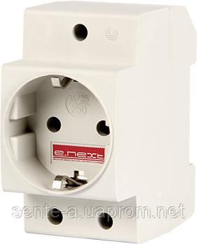 Розетка на DIN-рейку e.socket.pro.din.tms, 230 В, L+N+PE