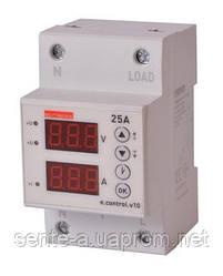 Реле контроля напряжения и тока e.control.v10