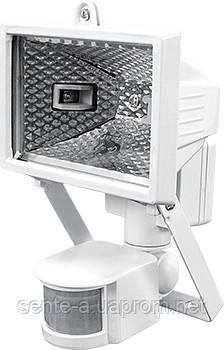 Прожектор галогенный e.halogen.move.150.white 150Вт, белый с датчиком на движение