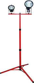 Стойка металическая для галогенных  прожекторов e.halogen.base.2.150.500, (для 2-х  прожекторов по 150 Вт или 500Вт), красная