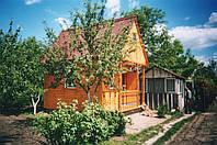 Деревянный дом 4х3 с верандой