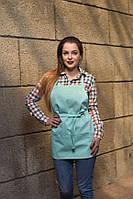 Фартук тканевый  мятного цвета для официанта, униформа для персонала, индивидуальный пошив, все размеры
