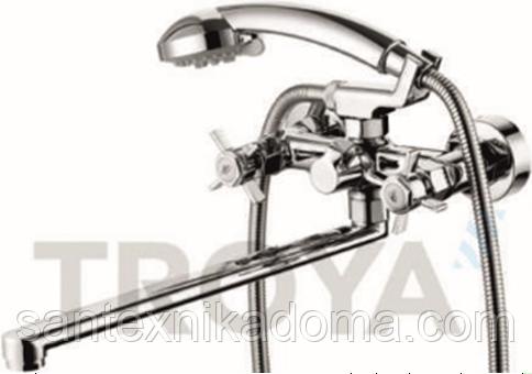 Смеситель для ванны длинный гусак TROYA QMG7-A621