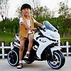Детский мотоцикл BMW GS 1200: 12V, 70W, 3-7 км/ч, USВ, кожа - БЕЛЫЙ - купить оптом