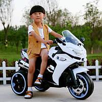 Детский мотоцикл BMW GS 1200: 12V, 70W, 3-7 км/ч, USВ, кожа - БЕЛЫЙ - купить оптом, фото 1
