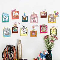 Мультфильм Животных Виниловые Детские Наклейки На Стены Декор 40х60 см