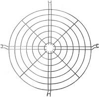 Стальная защитная решетка e.high.light.al.grid.485 к алюминиевому отражателю, 485мм