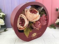 """Коробка для цветов """"Wave"""" красная"""