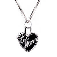 """Красивый женский кулон из металла в виде сердца """"Мама""""!"""