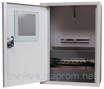 Шкаф распределительный e.mbox.stand.n.f1.12.z.e под однофазный электронный счетчик+ 12 мод., навесной замком