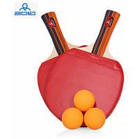 Боли А09 2шт / набор настольный теннис пинг-понг ракетки с мячом Длинная ручка / Пожать-руку ракетка