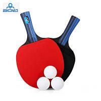Боли А10 2шт / набор настольный теннис пинг-понг ракетки с мячом Длинная ручка / Пожать-руку ракетка