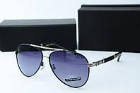 Солнцезащитные очки Audi черные в серебре, фото 1