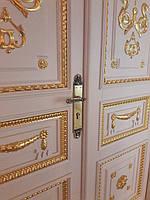 Дверная ручка на планке, латунь, фото 1