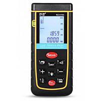 РЗ А100 лазерный дальномер 0,05 до 100м с Пузырьковый уровень - Жёлтый и чёрный