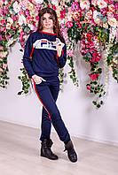 Женский спортивный костюм синий с красным Фила, фото 1