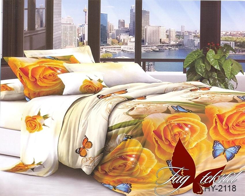 Комплект постельного белья XHY2118 полуторный (TAGpolicotton 1,5-sp-461)