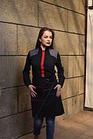 Комплект униформы передник + рубашка черного цвета, для персонала, индивидуальный пошив, все размеры