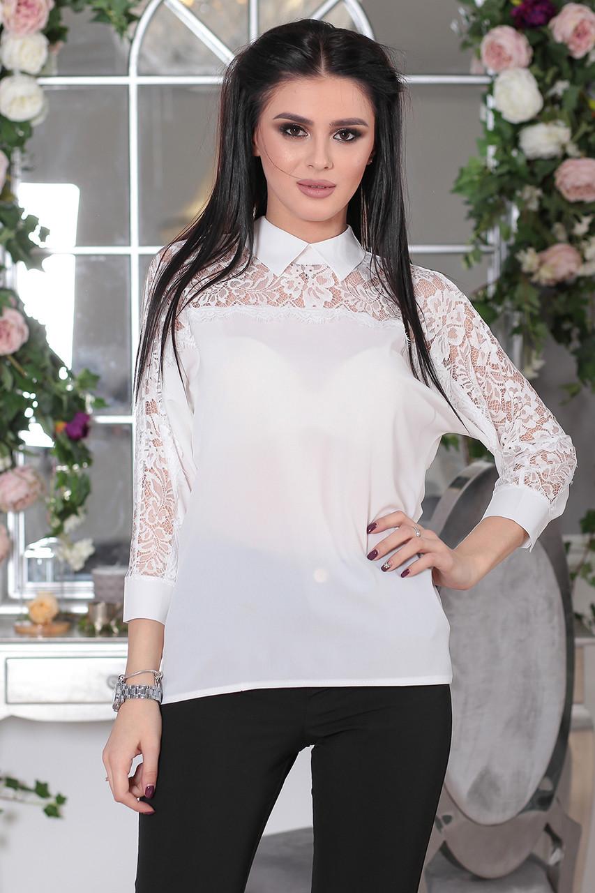 Нарядная Блузка Джули в белом цвете