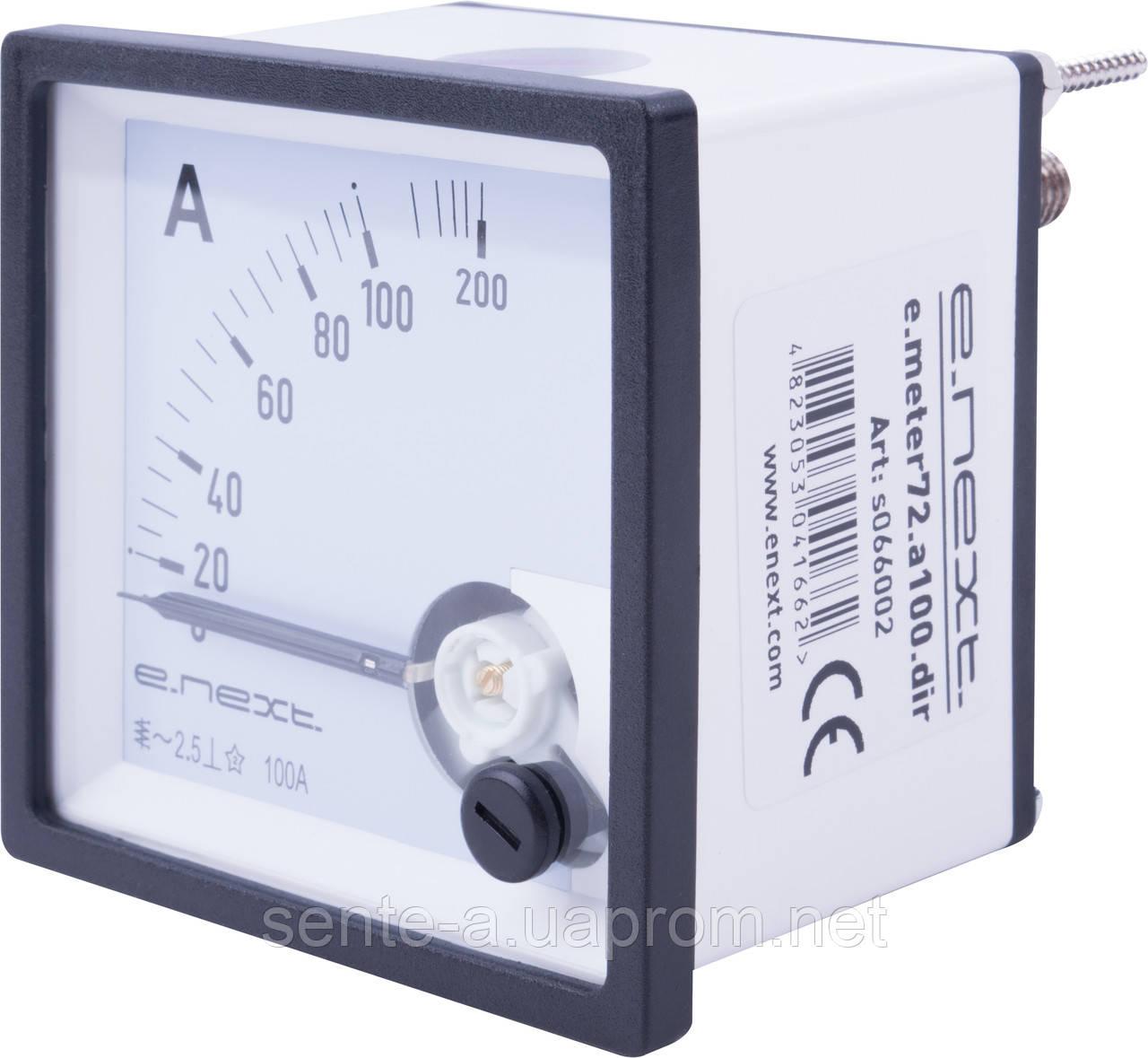 Амперметр щитової e.meter72.a100.dir AC 100A прямого включення