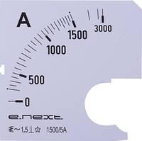 Шкала для амперметра щитового e.meter72.a1500.scale AC 1500A