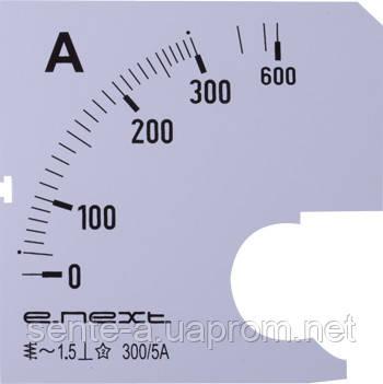 Шкала для амперметра щитового e.meter72.a300.scale AC 300A