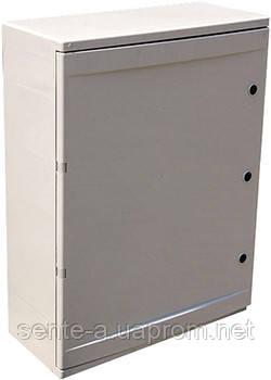 Шафа ударостійкий з АБС-пластику e.plbox.350.500.195.45 m.blank, 350х500х195мм, IP65 з панеллю під 45 модулів