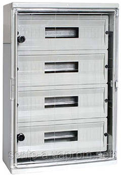 Шкаф ударопрочный из АБС-пластика e.plbox.400.500.175.54m.tr, 400х500х175мм, IP65 с прозрачной дверцей и
