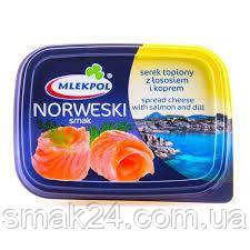 Сыр плавленый с лососем и укропом Mlekpol Norweski Smak 150г (Польша)